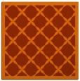rug #121161 | square red-orange borders rug
