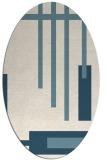 rug #1211615 | oval white abstract rug