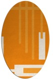 rug #1211663 | oval light-orange abstract rug