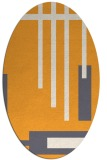rug #1211667 | oval light-orange abstract rug