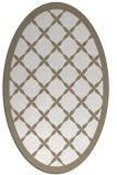 rug #121257 | oval beige borders rug