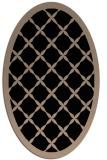 rug #121269 | oval black borders rug