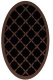 rug #121273 | oval black borders rug
