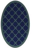 rug #121289 | oval blue borders rug