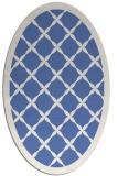 rug #121297 | oval blue rug