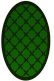 rug #121325 | oval green borders rug