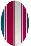 rug #1213279 | oval red rug