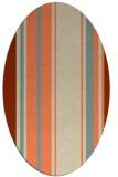 rug #1213383   oval beige stripes rug
