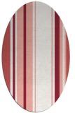 rug #1213403 | oval white stripes rug