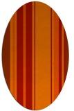 rug #1213427 | oval red stripes rug