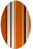 rug #1213451 | oval red-orange stripes rug