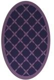 rug #121353 | oval purple borders rug