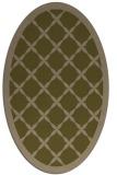 rug #121377   oval mid-brown borders rug