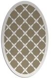 rug #121397 | oval white borders rug