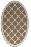 rug #121409 | oval beige geometry rug