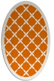 rug #121449 | oval orange borders rug