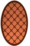 rug #121457 | oval red-orange geometry rug