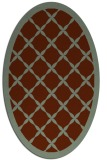rug #121460 | oval borders rug
