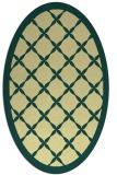 rug #121461 | oval yellow borders rug