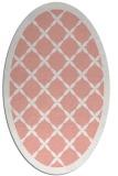 rug #121477 | oval white borders rug