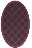 rug #121481 | oval purple borders rug