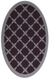 rug #121493 | oval purple borders rug