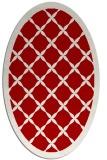 rug #121497 | oval red borders rug