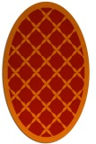 rug #121501 | oval red borders rug