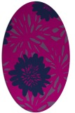 rug #1215039   oval pink rug