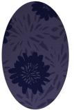 rug #1215087 | oval blue-violet rug