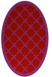 rug #121509 | oval red traditional rug