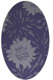rug #1215091 | oval blue-violet rug