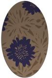 rug #1215107 | oval beige natural rug