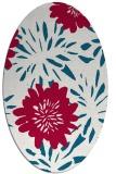 rug #1215119 | oval red natural rug