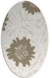 rug #1215167 | oval white rug