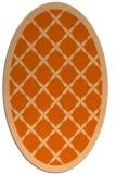 rug #121517   oval red-orange borders rug