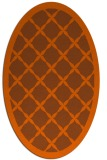 rug #121521 | oval red-orange borders rug
