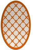 rug #121525 | oval red-orange traditional rug
