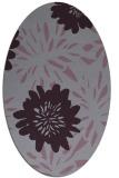 rug #1215259   oval purple natural rug