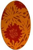 rug #1215267   oval orange natural rug
