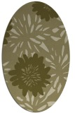 rug #1215355 | oval light-green rug