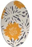 rug #1215367 | oval white natural rug