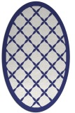 rug #121537 | oval white traditional rug
