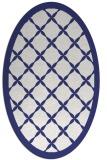 rug #121537 | oval white borders rug