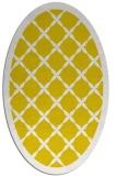 rug #121557 | oval yellow geometry rug
