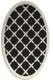 rug #121565 | oval black traditional rug