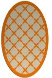 rug #121573 | oval beige borders rug