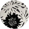 rug #1215743 | round black natural rug