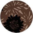 rug #1215755 | round black natural rug