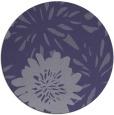rug #1215827 | round blue-violet rug